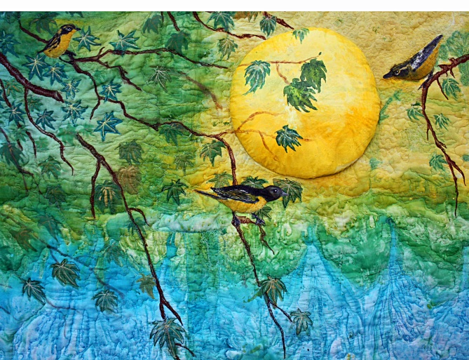 """Moon Song""-Barbara Harms Fiber Art"