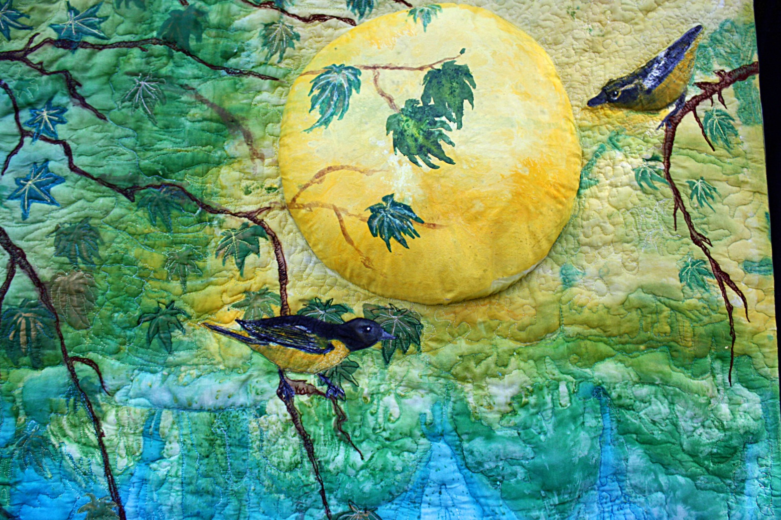 "Barbara Harms Fiber Art ""Moon Song"""