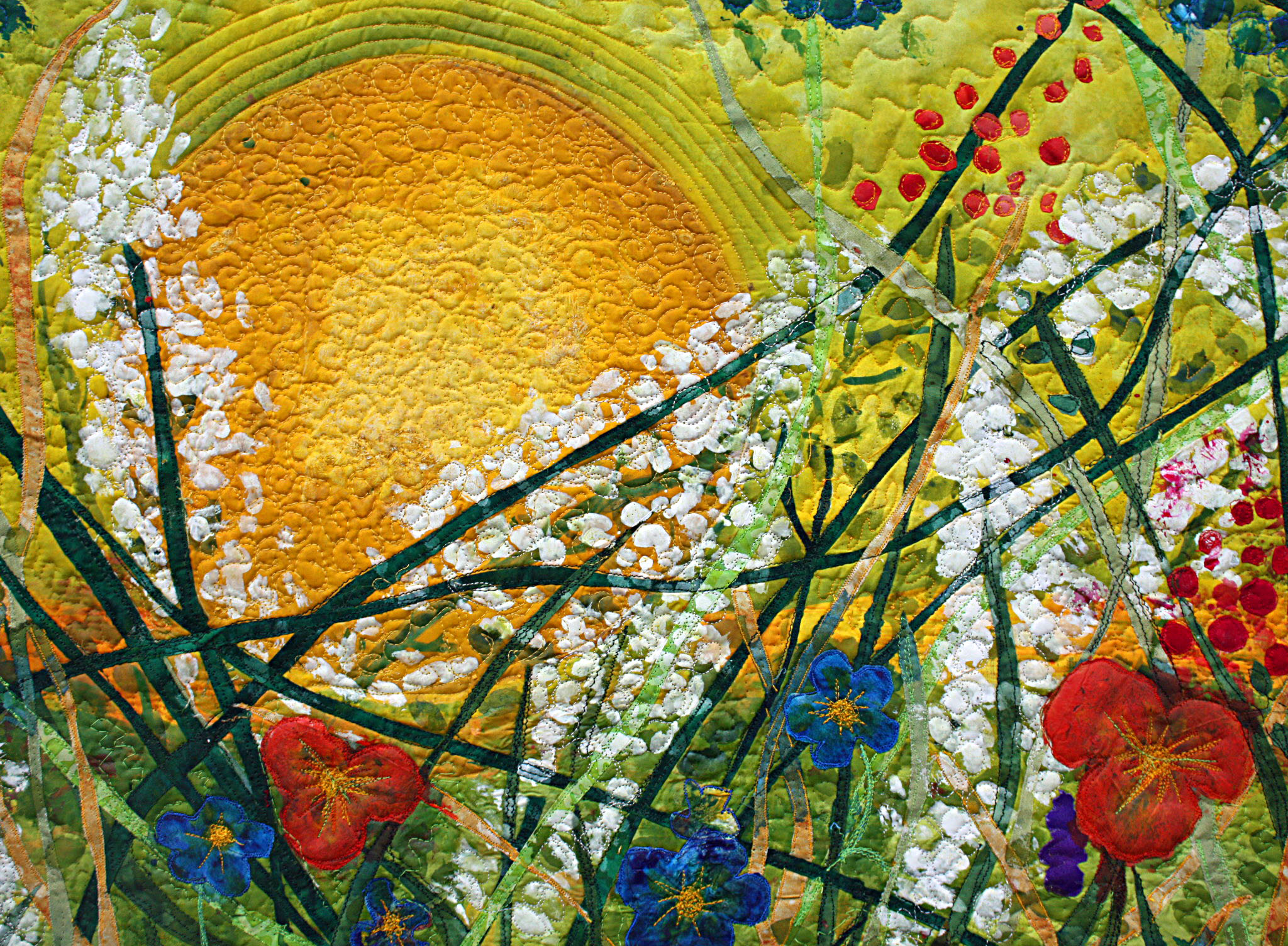 Silk Painted Art Quilt Everything Under The Sun Barbara