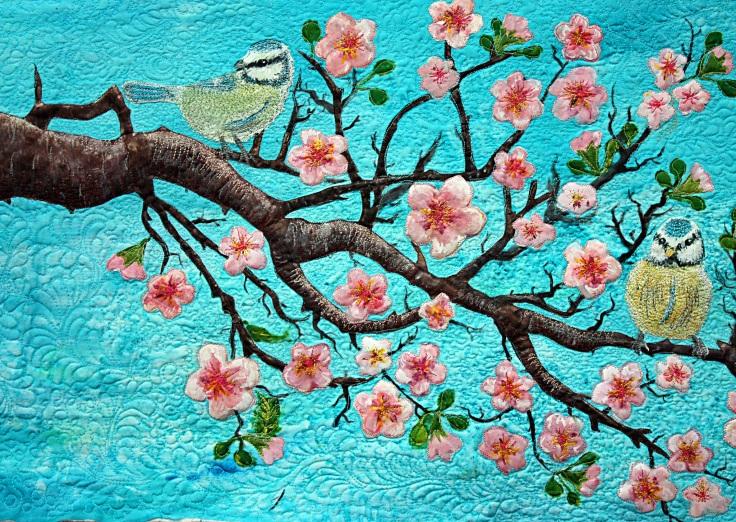 """Cherry Tree Birds""-Barbara Harms"