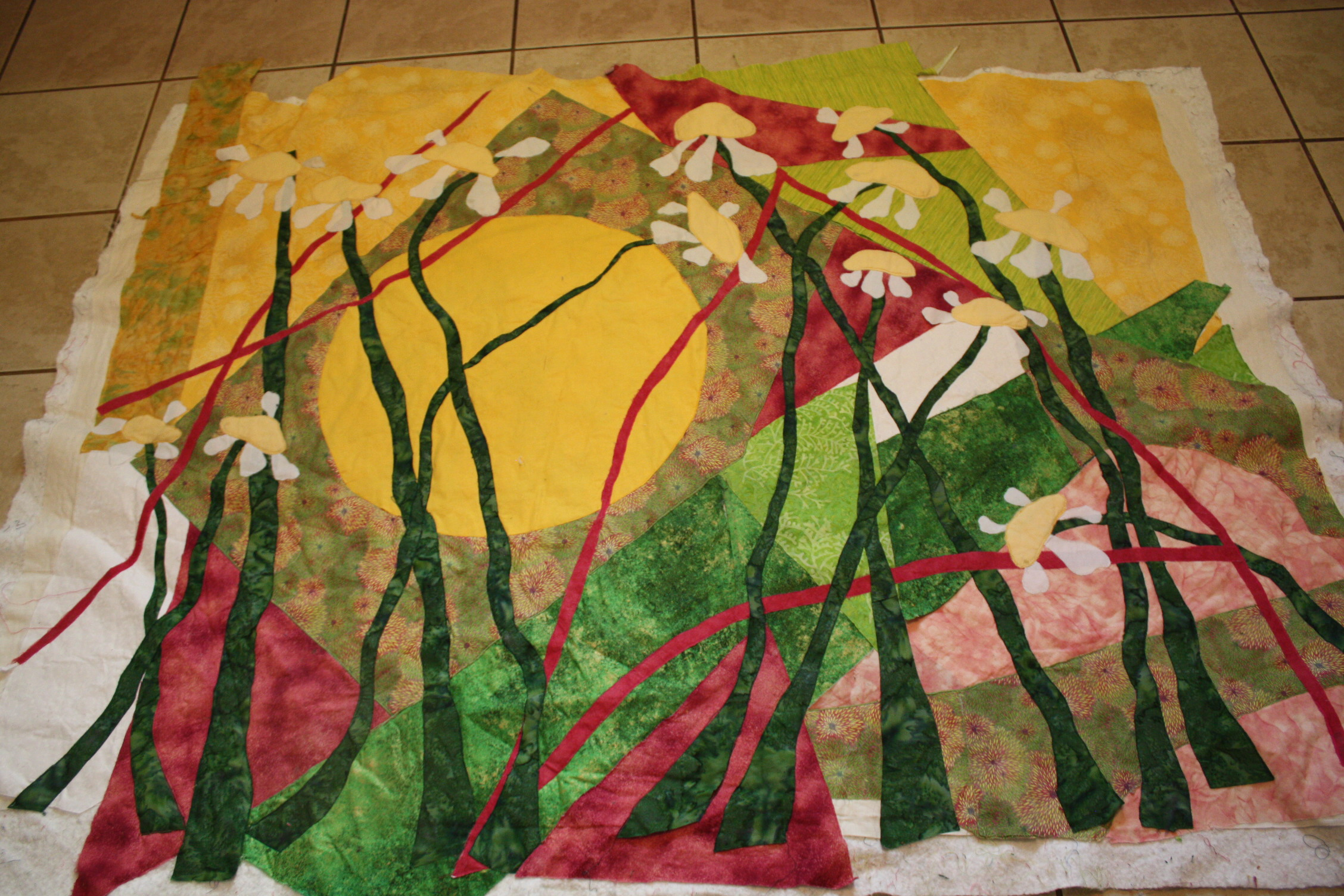 Raw Edge Applique Tutorial Demo On Two Art Quilts Part 2