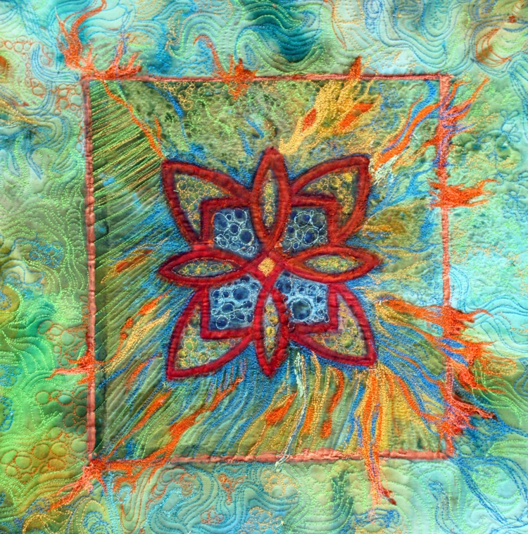 Here's my new art quilt after the quilting is done.