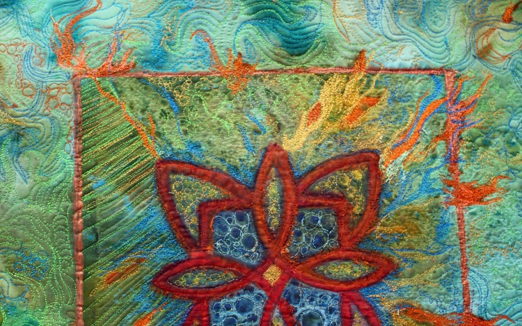details of my-thread work and quilting