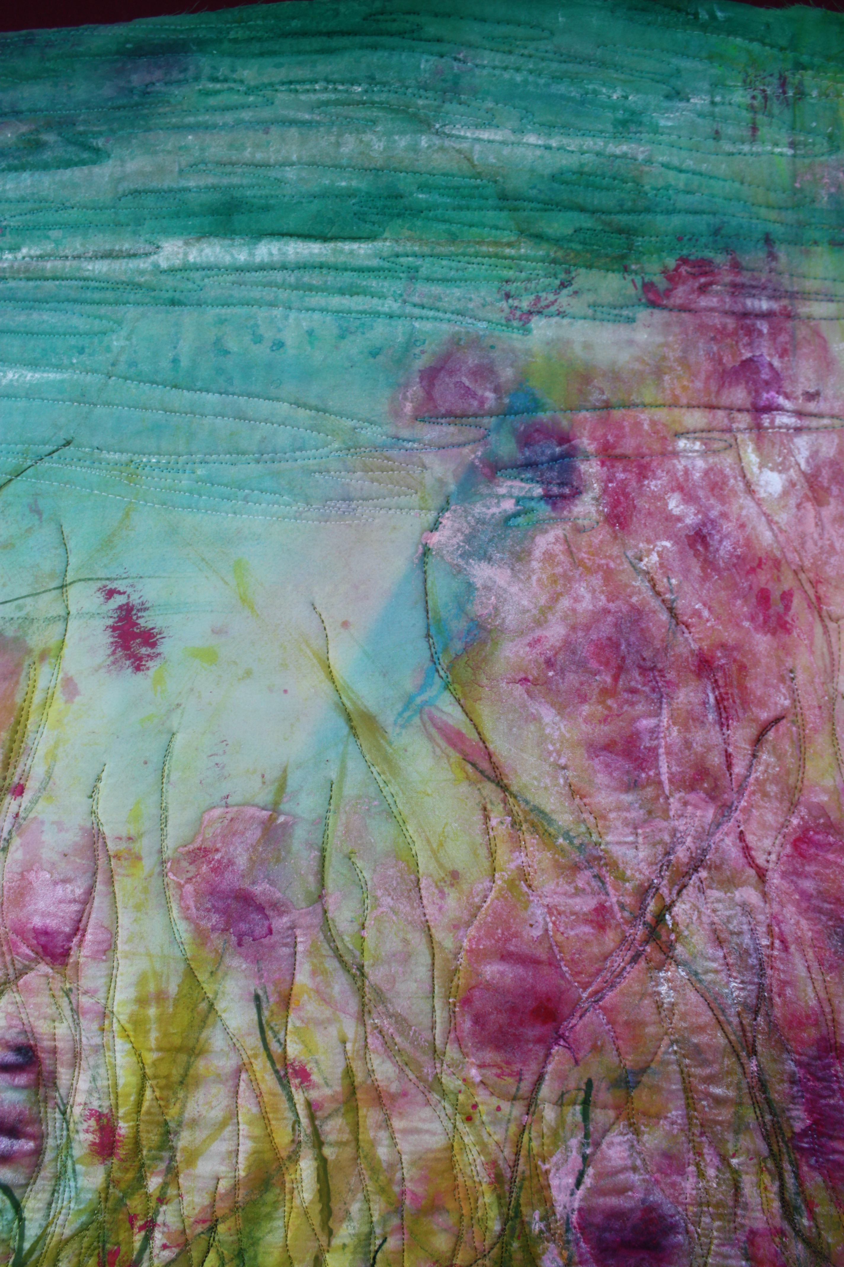 impressionist art quilt  u2013 barbara harms fiber art