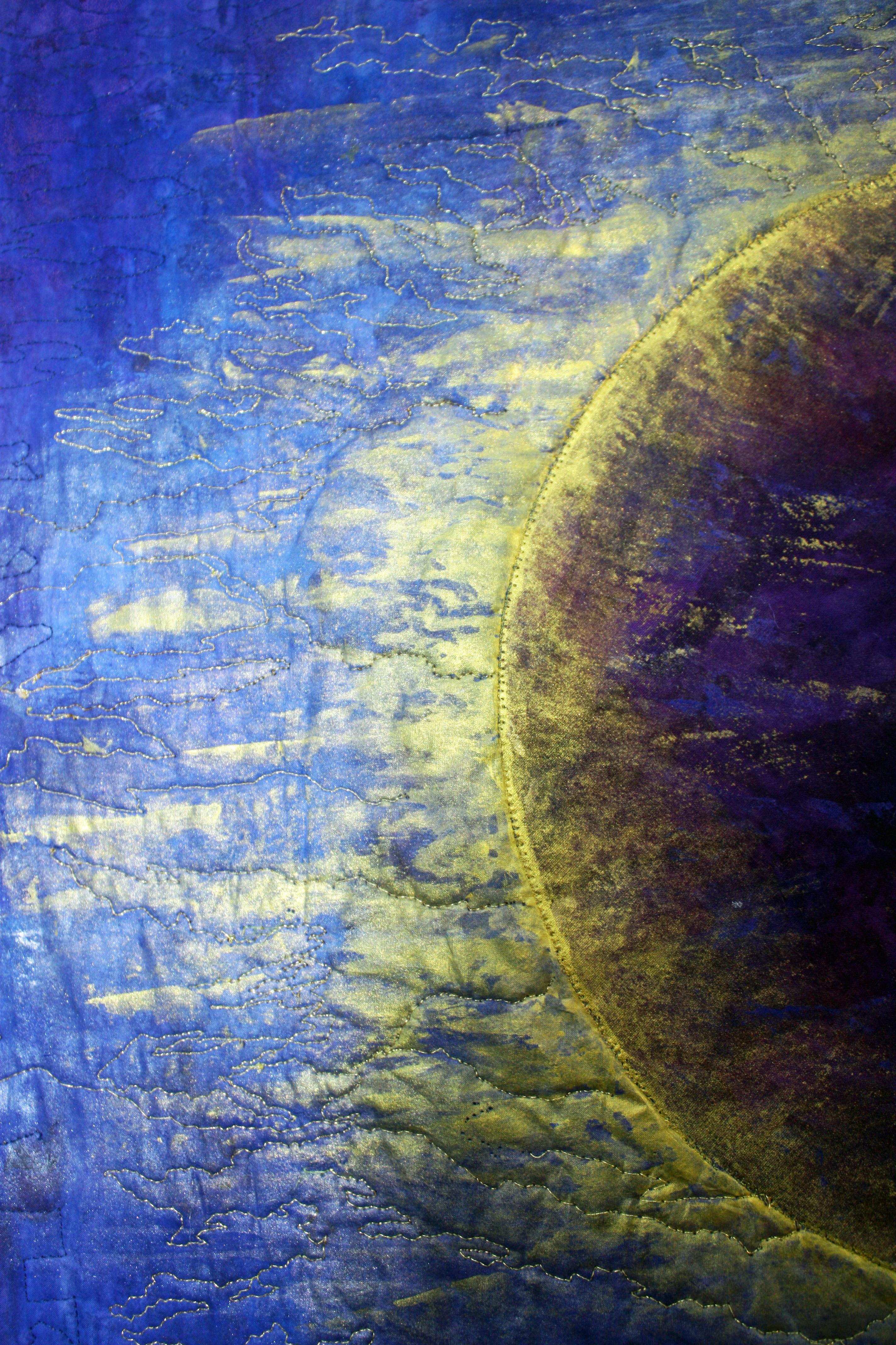Lunar Eclipse Art Quilt Barbara Harms Fiber Art