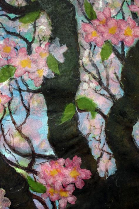cherry blossom quilt applique