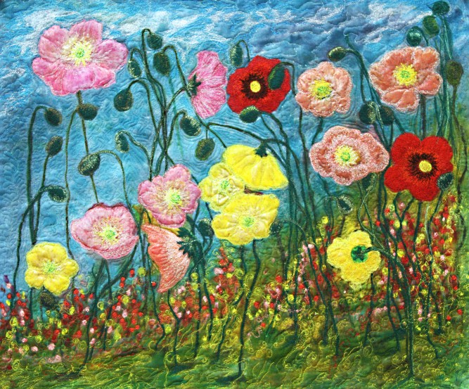 Barbara Harms Poppy art quilt 003 copy