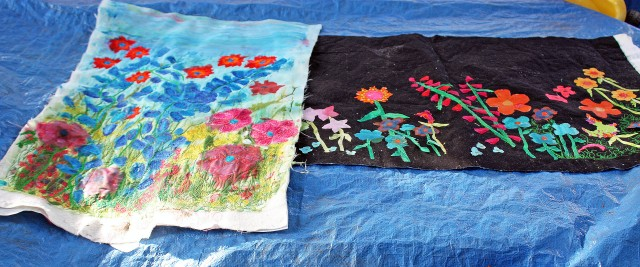2 garden quilts