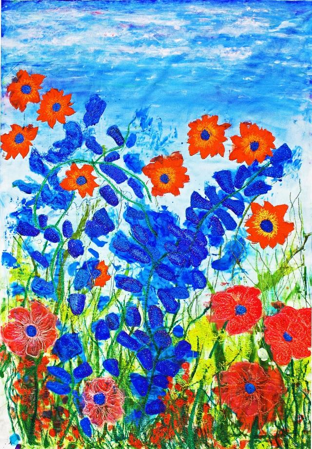 Blue and Orange garden
