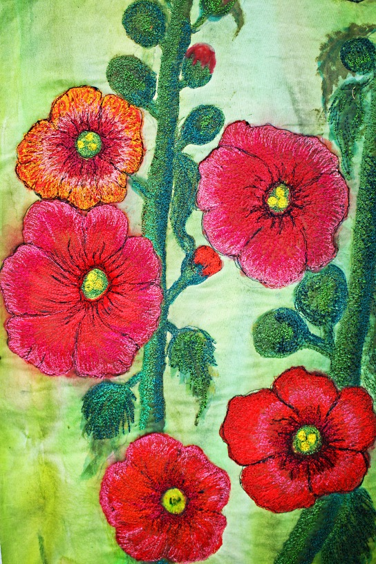 hollyhocks 014