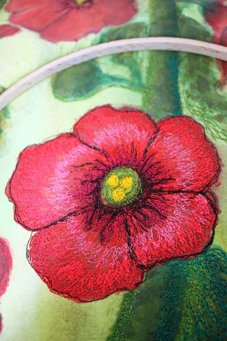 Barbara Harms 1131 SW Ellis Dallas, or 97338hollyhocks, hollyhock quilt 021