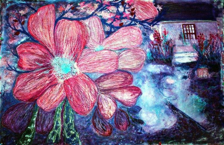 Barbara Harms Fiber Art Stylized garden
