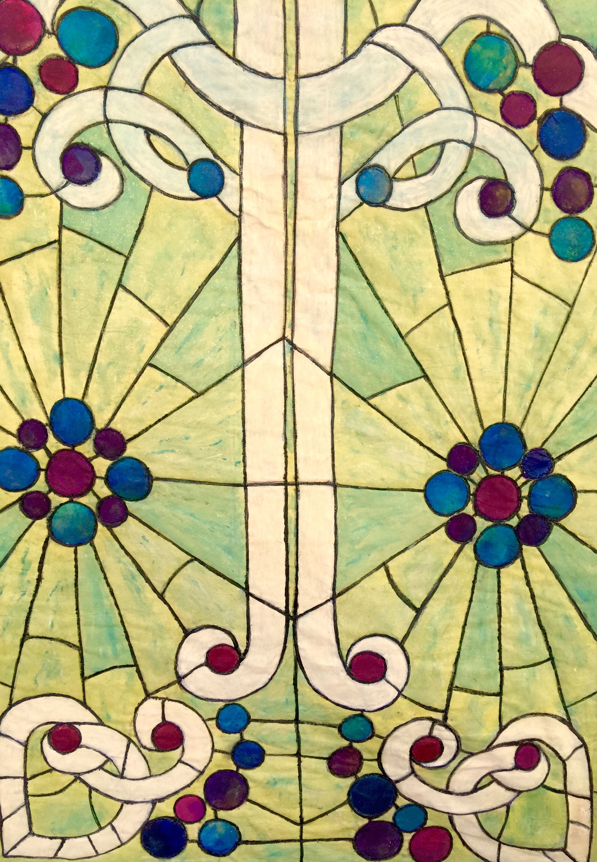 It\'s A Stained Glass Window – BARBARA HARMS FIBER ART