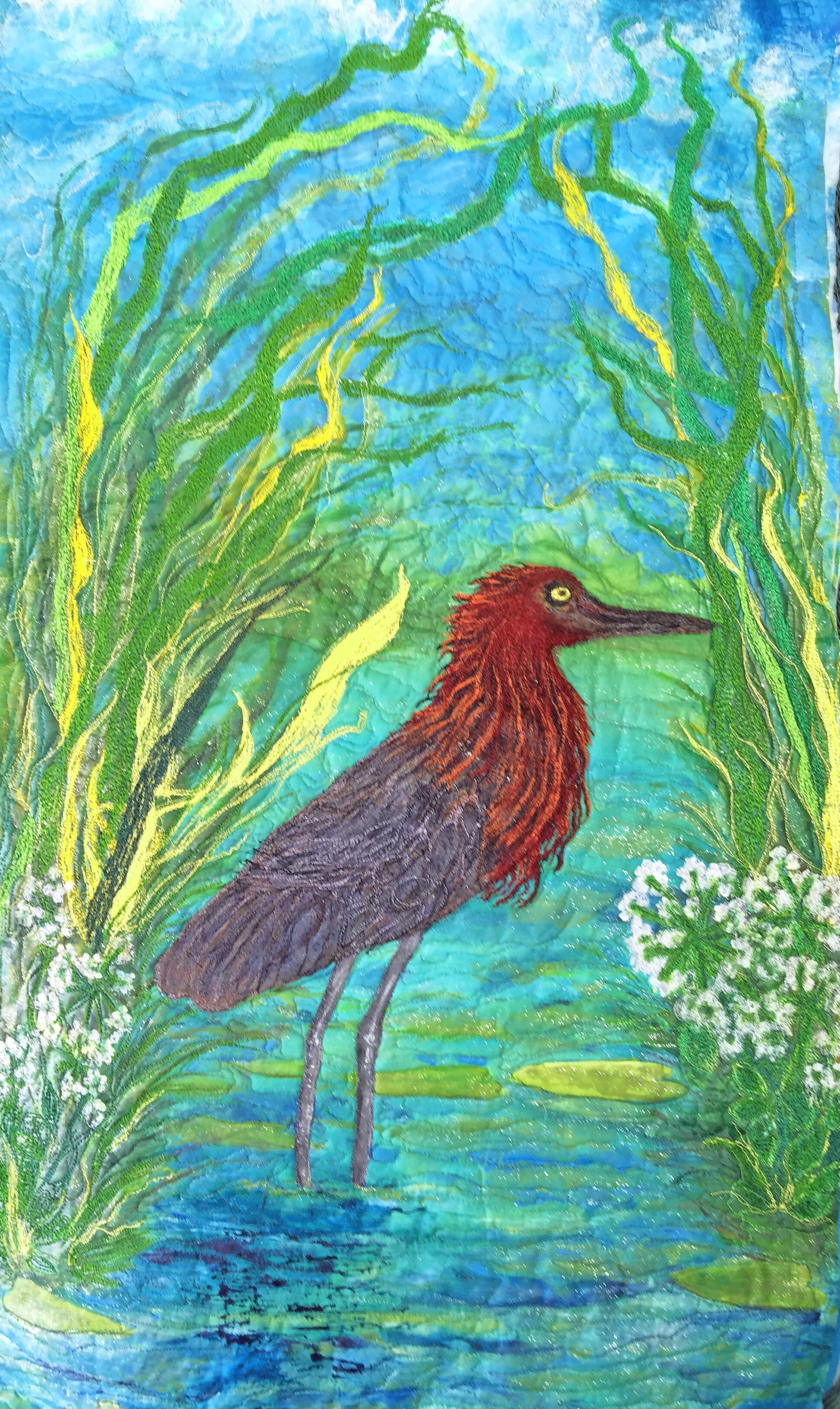 """""""Entire quilt view Red Egret, Barbara Harms"""