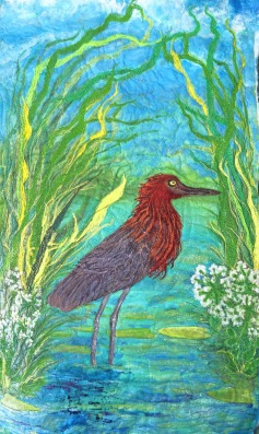 """Entire quilt view Red Egret, Barbara Harms"