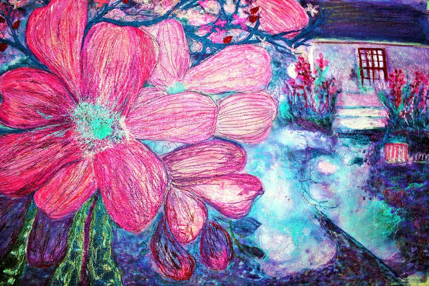 Barbara HarmsFiberArt Abstract dogwood (2)