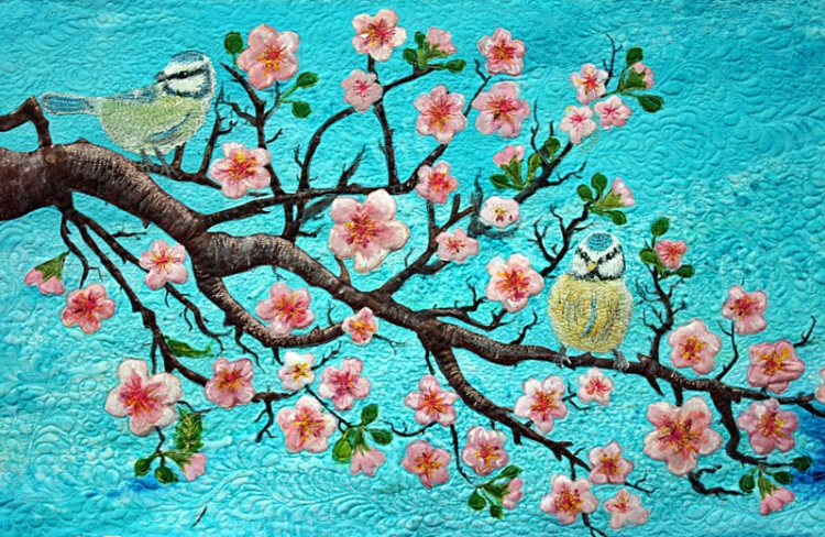 Cherry Tree with Birds