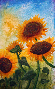 Sunflower art quilt