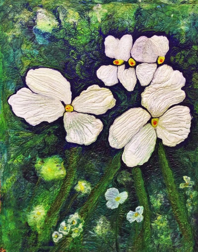 Deep Woods Barbara Harms Fiber Art