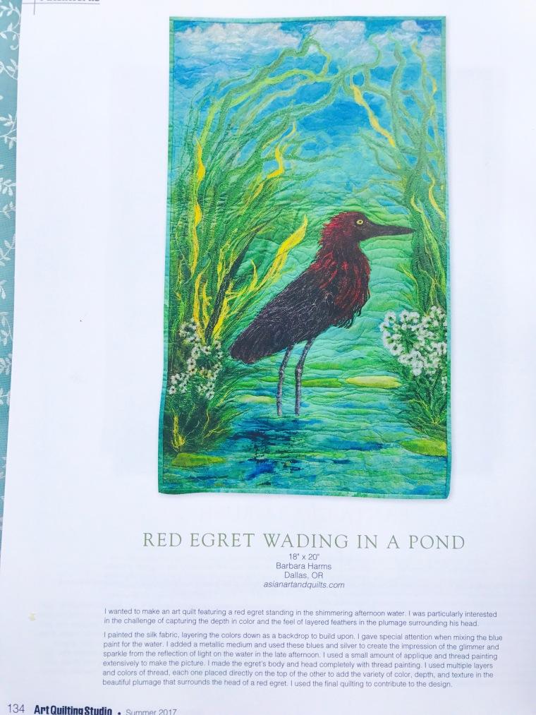 Art Quilt of Egret