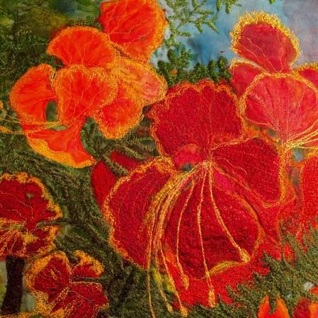 Flame-Barbara Harms Fiber Art