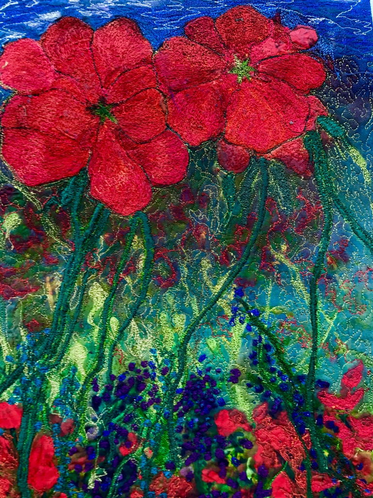 """""""Red""""appeared in Art Quilting Mag."""